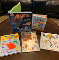 5 various Childrens Activity Books