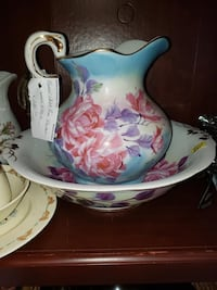 white and pink floral ceramic pitcher Pensacola, 32507