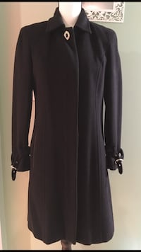 Authentic Coach Black Wool Coat Size:2 Richmond, V7A 1H2