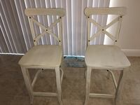 Set of two harvester farmhouse crossback counter height barstools Oviedo, 32766