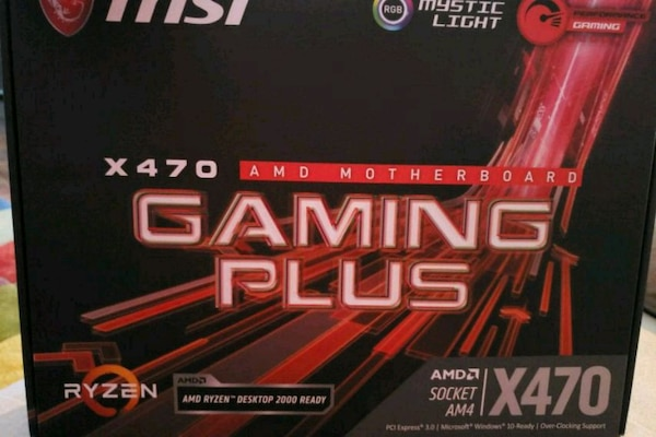 Msi x470 gaming plus amd motherboard