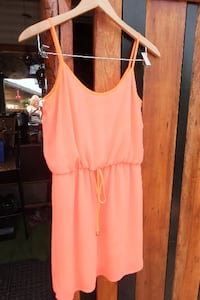 Short bright orange dress size small Maple Ridge