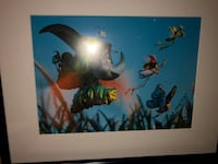 6 Disney Cels in Shadowboxes Whitby