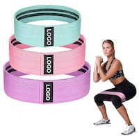 3 Fabric Fitness Resistance Band - NEW