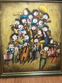 Stunning artwork children playing instruments  Hampstead, H3X 3G3