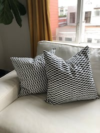 Two double sided throw pillows San Francisco, 94123