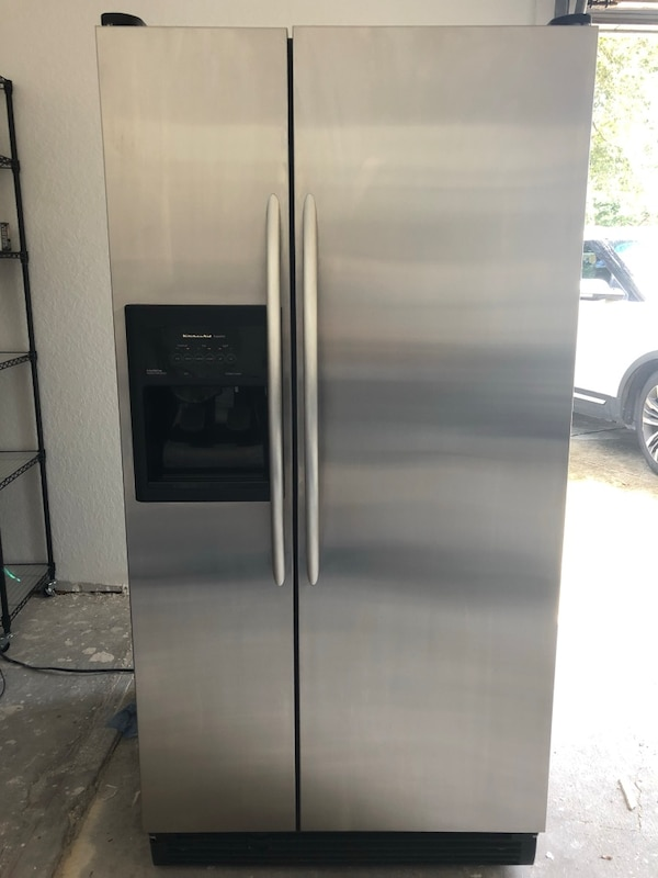 KitchenAid side by side refrigerator