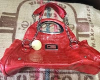 red and brown leather handbag Barrie, L4N 5G8