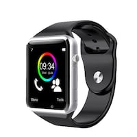 silver aluminum case Apple Watch with black sports band Surrey, V3T