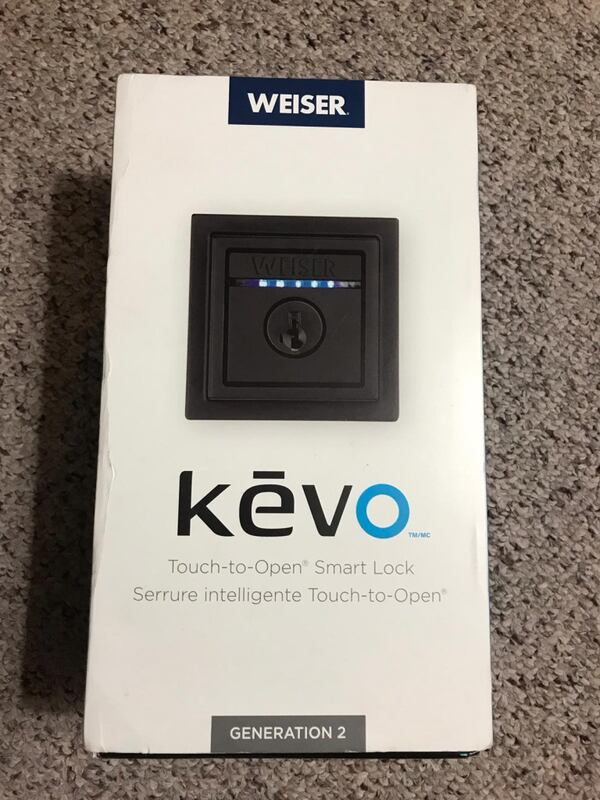 Kevo Contemporary Electronic 2nd Gen Lock in Iron Black  (Phone number hidden by letgo)  ef0cbf7d-95b6-4421-9db1-3b9faaaee0dd