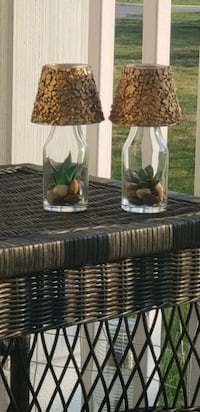 two clear glass solar lamps Indianapolis, 46217