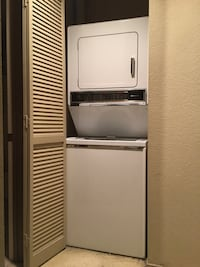 Electric stacked washer dryer San Diego, 92126
