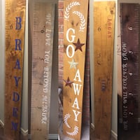Wooden signs wood height ruler