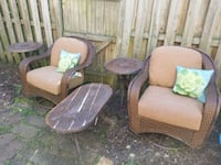 two brown wooden framed armchairs Alexandria, 22315