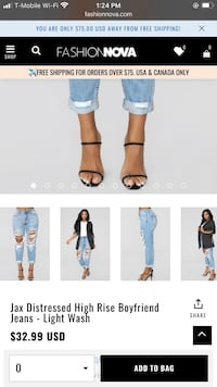 Fashion Nova Jax Distressed High Rise Boyfriend Jeans - Light Wash
