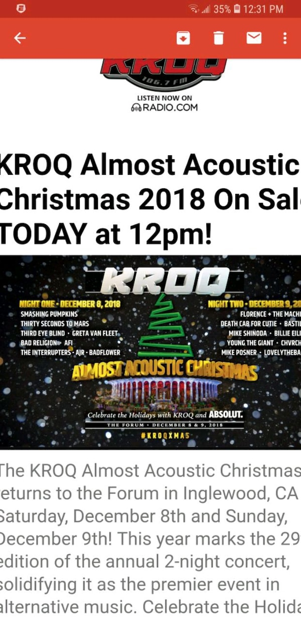 Kroq Almost Acoustic Christmas.Kroq Almost Acoustic Christmas