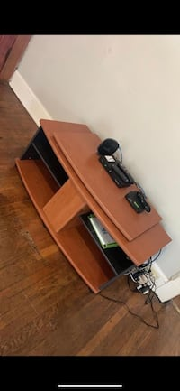 Wooden TV stand. Sturdy. Shelves & door. top part Swivels. Good quality. Media center. Washington, 20018