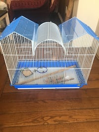 blue and white metal pet cage Saanichton, V8M