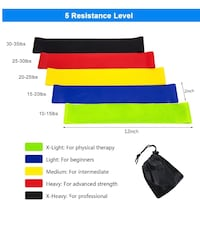 Workout Bands for Home Fitness, Stretching, Yoga,Physical Therapy and More Monterey Park, 91754