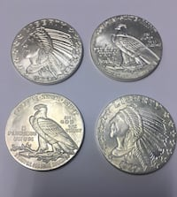 "Pure Silver 1 ounce ""Indian Head"" rounds. $19 each"