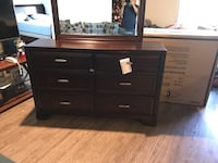 Brown wooden dresser with mirror 2271 mi