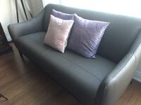 Gray leather sofa -2 matching chairs & black leather recliner with ottoman  Richmond Hill, L3T 0B4