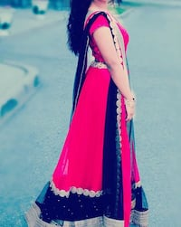 Indian dress. Langha. Red, gold and black  Markham, L3S 2E1