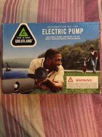 Electric Air Pump - NEW - used to inflate items  Irvington, 07111