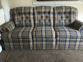 Reclining couch! Need gone ASAP! BEST OFFER