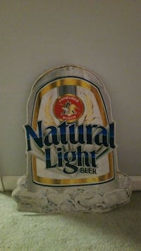 Natural light beer sign (metal) White Lake charter Township, 48386