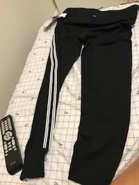 Black and white adidas track pants Vancouver, V5P 4L3