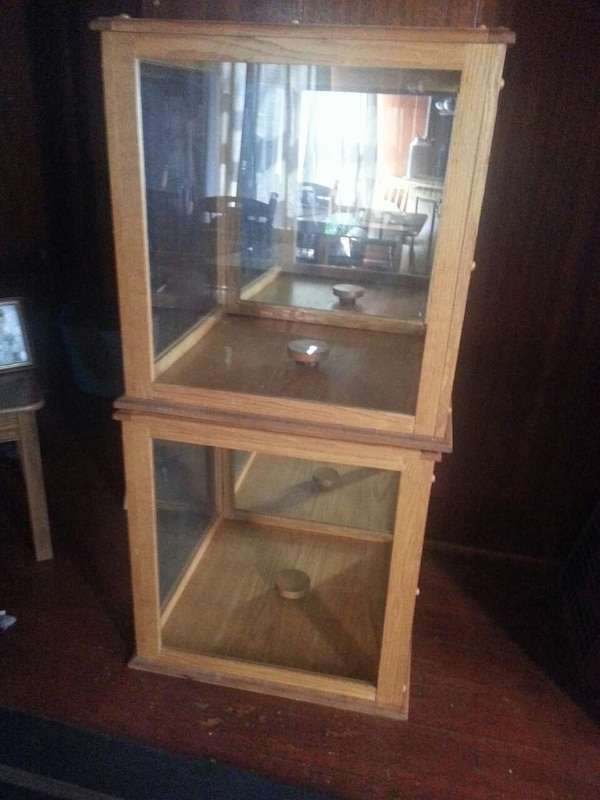 2 Wooden Display Boxes