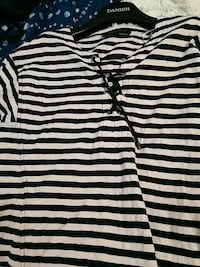 Pale pink and navy striped shirt Richmond Hill, L4C 3E4
