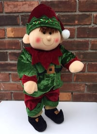 Plush Little Elf Soft Stuffed Santa Helper Christmas Gift TRENTON