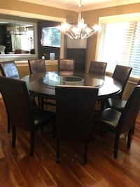 Big round table with 10 chairs
