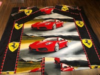 Ferrari duvet cover for double bed (with bed skirt+2 pillow covers)  Laval, H7P 3B6