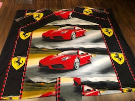 Ferrari duvet cover for double bed (with bed skirt+2 pillow covers)