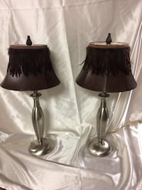 two stainless steel base table lamps Chatham-Kent, N0P
