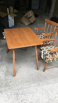 rectangular brown wooden table with two chairs Vaughan, L4J 8N8