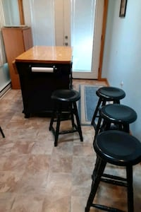4 stools with table