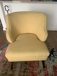 Brown wooden frame yellow armchair Silver Spring, 20910