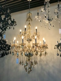 Crystal Chandelier gold tint Los Angeles, 90069