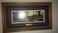 Brown wooden framed painting of house Albuquerque, 87109