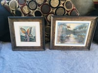 two brown wooden framed painting of flowers Midway City, 92655
