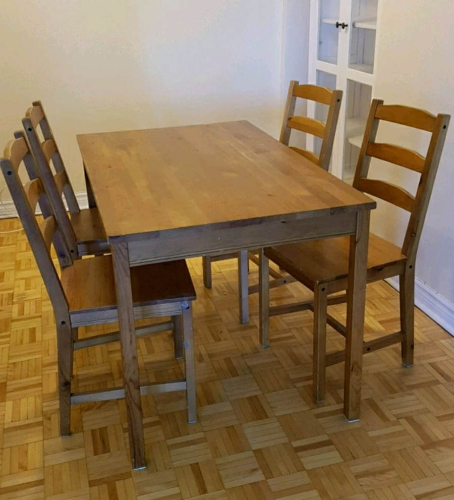used ikea dining table and 4 chair for sale in laval letgo rh gb letgo com