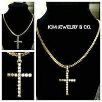 14K Gold Plated Miami Cuban w/ Icey Cross