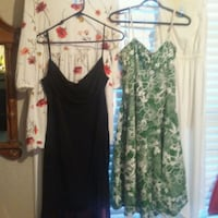 women's black and green floral sleeveless dress Kelowna, V1Y 4Y2