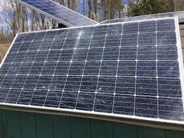 Solar panels. 380watts peak and is 48v,