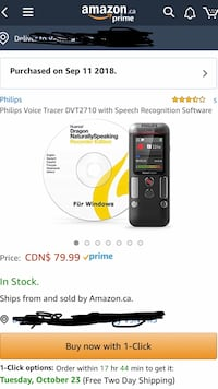 Philips voice recognition recorder. It is used only once, brand new  Burnaby, V3N 4V6