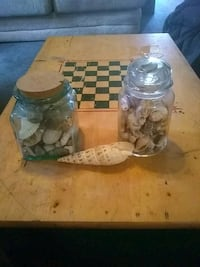 two clear glass jars Coplay